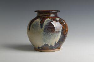 Large Round Vase (rutile glaze)