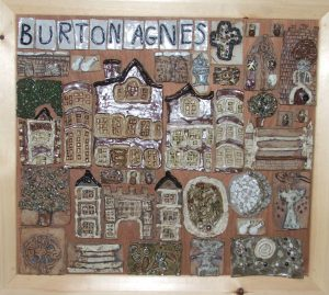 A mural made by the children at Burton Agnes school