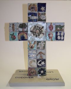 Cross made by the infants at Sutton on Derwent School, East Yorks
